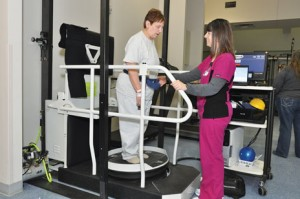 The Proprio Reactive Balance System uses a computer-controlled, multidirectional platform to challenge balance and reactions.